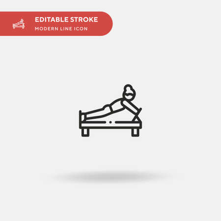 Pilates Simple vector icon. Illustration symbol design template for web mobile UI element. Perfect color modern pictogram on editable stroke. Pilates icons for your business project