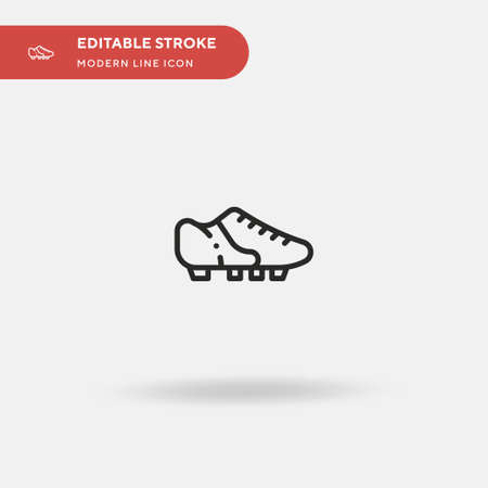 Sport Shoe Simple vector icon. Illustration symbol design template for web mobile UI element. Perfect color modern pictogram on editable stroke. Sport Shoe icons for your business project