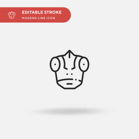 Chameleon Simple vector icon. Illustration symbol design template for web mobile UI element. Perfect color modern pictogram on editable stroke. Chameleon icons for your business project Vector Illustratie