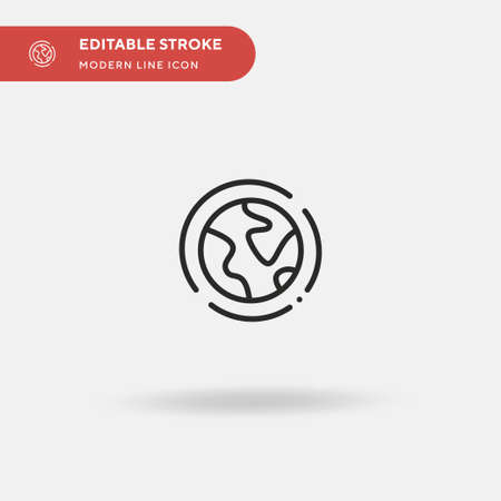 Ozone Layer Simple vector icon. Illustration symbol design template for web mobile UI element. Perfect color modern pictogram on editable stroke. Ozone Layer icons for your business project