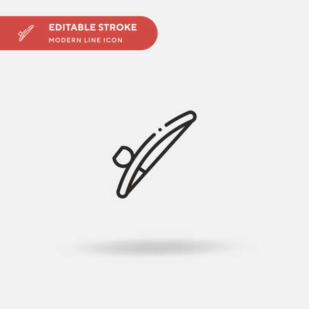 Berimbau Simple vector icon. Illustration symbol design template for web mobile UI element. Perfect color modern pictogram on editable stroke. Berimbau icons for your business project Vettoriali