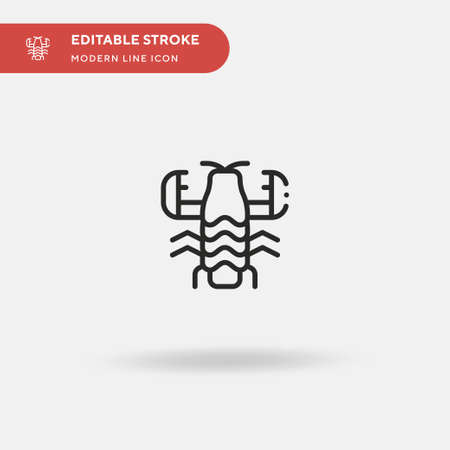 Mantis Simple vector icon. Illustration symbol design template for web mobile UI element. Perfect color modern pictogram on editable stroke. Mantis icons for your business project