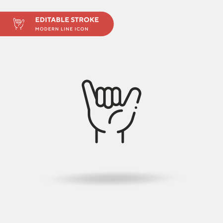 Shaka Simple vector icon. Illustration symbol design template for web mobile UI element. Perfect color modern pictogram on editable stroke. Shaka icons for your business project Vector Illustration
