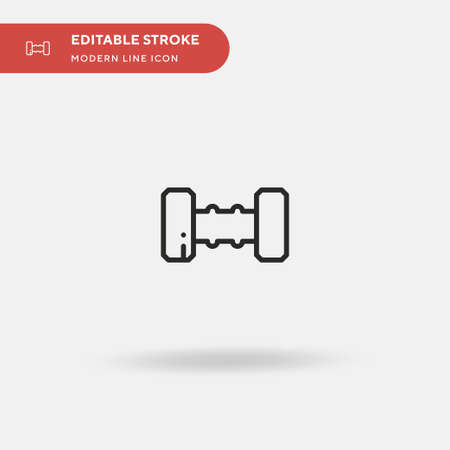 Dumbbell Simple vector icon. Illustration symbol design template for web mobile UI element. Perfect color modern pictogram on editable stroke. Dumbbell icons for your business project