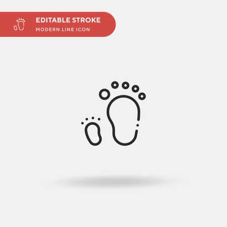 Footprint Simple vector icon. Illustration symbol design template for web mobile UI element. Perfect color modern pictogram on editable stroke. Footprint icons for your business project