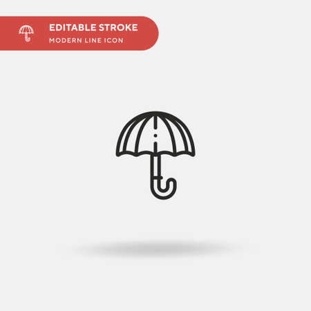 Umbrella Simple vector icon. Illustration symbol design template for web mobile UI element. Perfect color modern pictogram on editable stroke. Umbrella icons for your business project