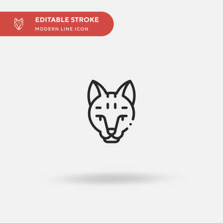 Serval Simple vector icon. Illustration symbol design template for web mobile UI element. Perfect color modern pictogram on editable stroke. Serval icons for your business project