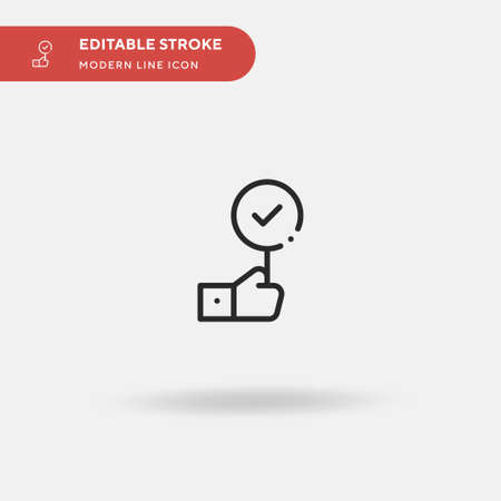 Agree Simple vector icon. Illustration symbol design template for web mobile UI element. Perfect color modern pictogram on editable stroke. Agree icons for your business project
