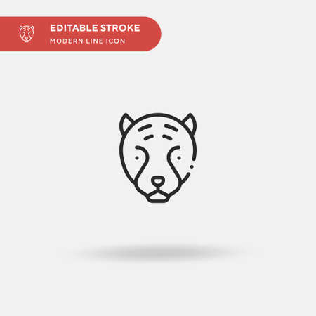 Tiger Simple vector icon. Illustration symbol design template for web mobile UI element. Perfect color modern pictogram on editable stroke. Tiger icons for your business project Illustration