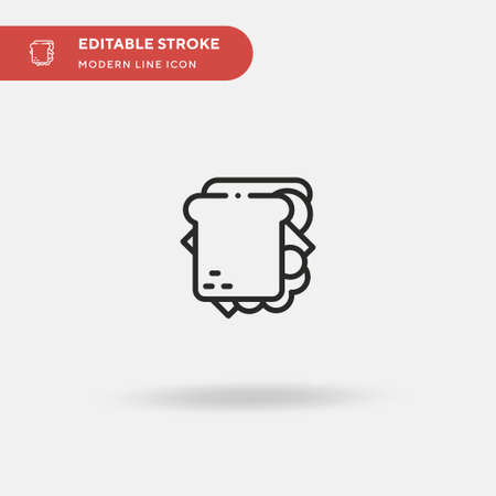 Sandwich Simple vector icon. Illustration symbol design template for web mobile UI element. Perfect color modern pictogram on editable stroke. Sandwich icons for your business project 向量圖像