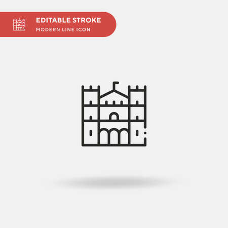 Duomo Di Monreale Simple vector icon. Illustration symbol design template for web mobile UI element. Perfect color modern pictogram on editable stroke. Duomo Di Monreale icons for your business project