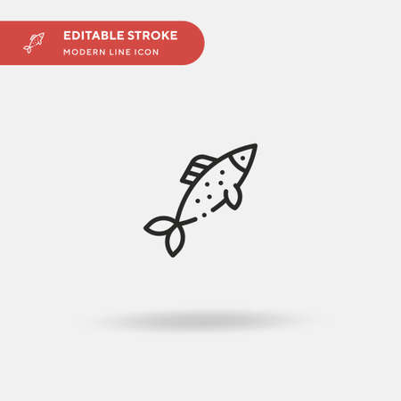 Herring Simple vector icon. Illustration symbol design template for web mobile UI element. Perfect color modern pictogram on editable stroke. Herring icons for your business project