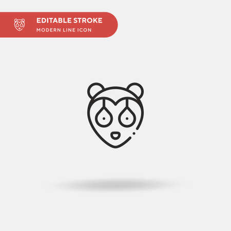 Sloth Simple vector icon. Illustration symbol design template for web mobile UI element. Perfect color modern pictogram on editable stroke. Sloth icons for your business project