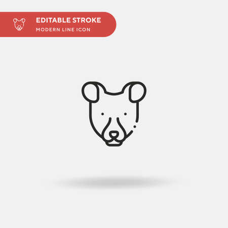 Fossa Simple vector icon. Illustration symbol design template for web mobile UI element. Perfect color modern pictogram on editable stroke. Fossa icons for your business project Illustration