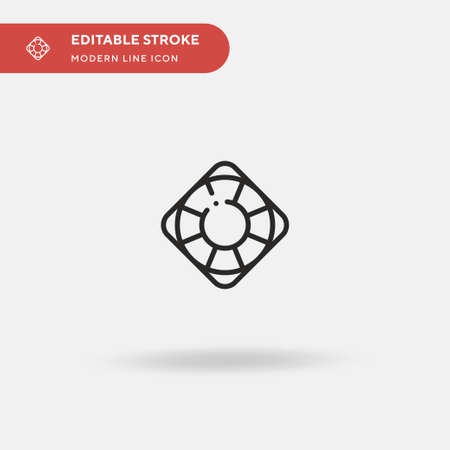 Rescue Simple vector icon. Illustration symbol design template for web mobile UI element. Perfect color modern pictogram on editable stroke. Rescue icons for your business project