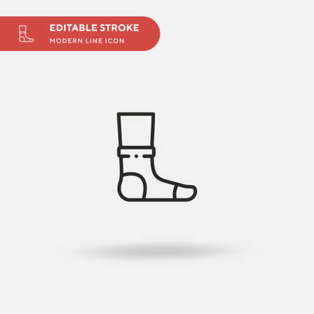 Ankle Simple vector icon. Illustration symbol design template for web mobile UI element. Perfect color modern pictogram on editable stroke. Ankle icons for your business project