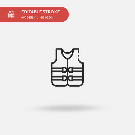 Life Vest Simple vector icon. Illustration symbol design template for web mobile UI element. Perfect color modern pictogram on editable stroke. Life Vest icons for your business project