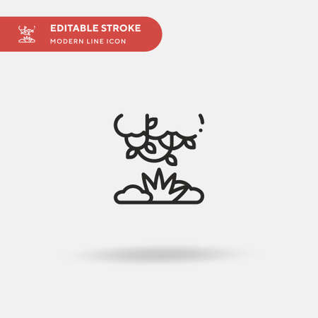 Bush Simple vector icon. Illustration symbol design template for web mobile UI element. Perfect color modern pictogram on editable stroke. Bush icons for your business project