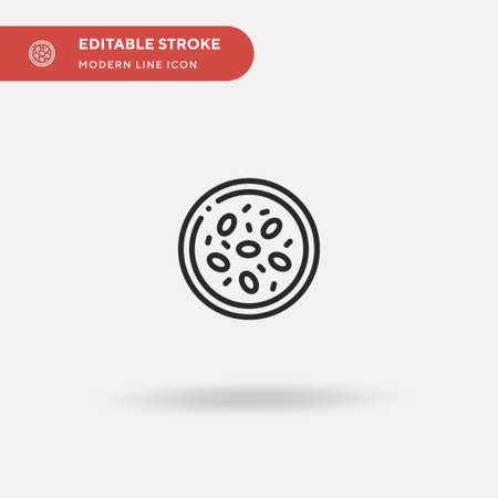 Kheer Simple vector icon. Illustration symbol design template for web mobile UI element. Perfect color modern pictogram on editable stroke. Kheer icons for your business project Illustration