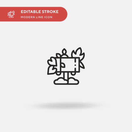 Forest Simple vector icon. Illustration symbol design template for web mobile UI element. Perfect color modern pictogram on editable stroke. Forest icons for your business project Banco de Imagens - 151478842