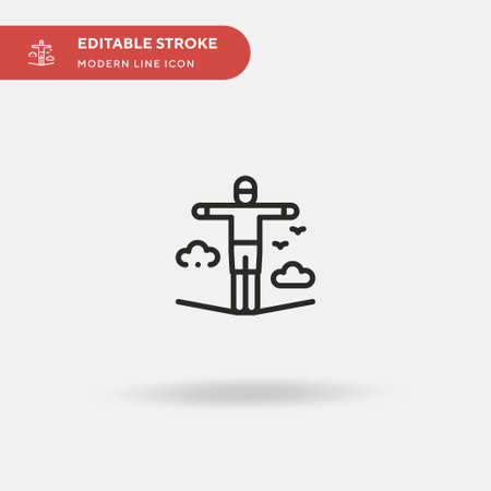 Walking On Rope Simple vector icon. Illustration symbol design template for web mobile UI element. Perfect color modern pictogram on editable stroke. Walking On Rope icons for your business project Vectores