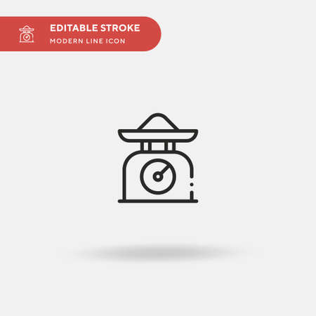 Weight Scale Simple vector icon. Illustration symbol design template for web mobile UI element. Perfect color modern pictogram on editable stroke. Weight Scale icons for your business project Vektorové ilustrace