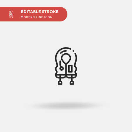 Life Jacket Simple vector icon. Illustration symbol design template for web mobile UI element. Perfect color modern pictogram on editable stroke. Life Jacket icons for your business project Ilustracja