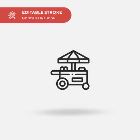 Food Stand Simple vector icon. Illustration symbol design template for web mobile UI element. Perfect color modern pictogram on editable stroke. Food Stand icons for your business project