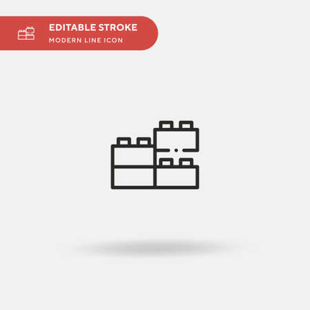 Toy Blocks Simple vector icon. Illustration symbol design template for web mobile UI element. Perfect color modern pictogram on editable stroke. Toy Blocks icons for your business project Vettoriali