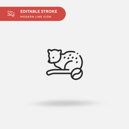 Ferret Simple vector icon. Illustration symbol design template for web mobile UI element. Perfect color modern pictogram on editable stroke. Ferret icons for your business project