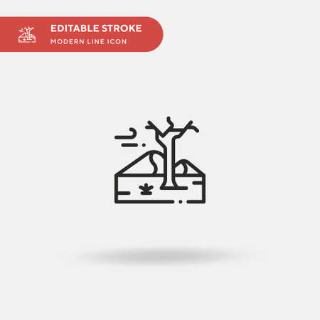 Desert Simple vector icon. Illustration symbol design template for web mobile UI element. Perfect color modern pictogram on editable stroke. Desert icons for your business project Illustration