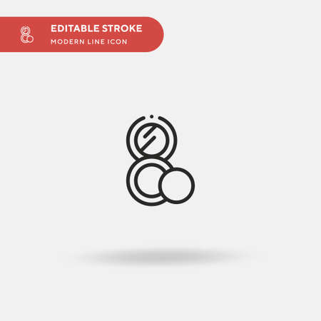 Blush Simple vector icon. Illustration symbol design template for web mobile UI element. Perfect color modern pictogram on editable stroke. Blush icons for your business project