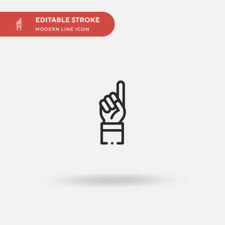 Hand Up Simple vector icon. Illustration symbol design template for web mobile UI element. Perfect color modern pictogram on editable stroke. Hand Up icons for your business project