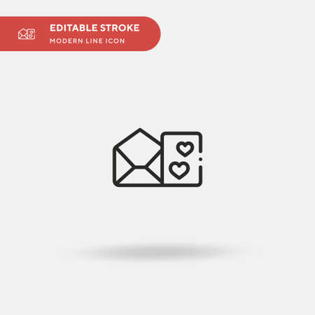 Love Letter Simple vector icon. Illustration symbol design template for web mobile UI element. Perfect color modern pictogram on editable stroke. Love Letter icons for your business project