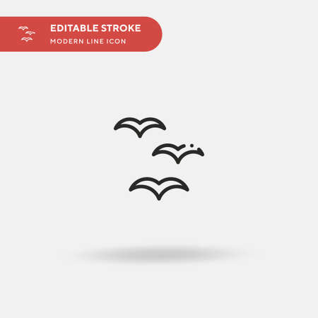 Bird Simple vector icon. Illustration symbol design template for web mobile UI element. Perfect color modern pictogram on editable stroke. Bird icons for your business project 일러스트