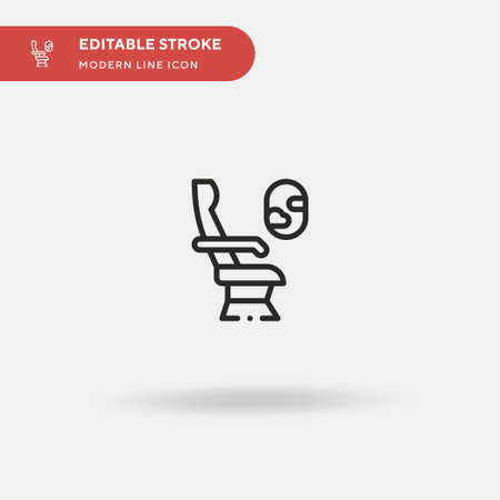 Seat Simple vector icon. Illustration symbol design template for web mobile UI element. Perfect color modern pictogram on editable stroke. Seat icons for your business project