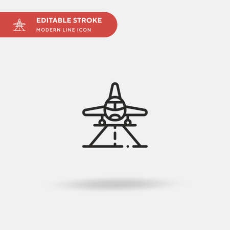 Runway Simple vector icon. Illustration symbol design template for web mobile UI element. Perfect color modern pictogram on editable stroke. Runway icons for your business project