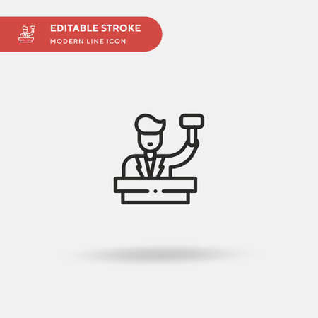 Auctioneer Simple vector icon. Illustration symbol design template for web mobile UI element. Perfect color modern pictogram on editable stroke. Auctioneer icons for your business project Illustration