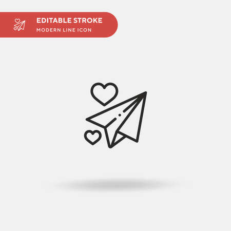 Paper Plane Simple vector icon. Illustration symbol design template for web mobile UI element. Perfect color modern pictogram on editable stroke. Paper Plane icons for your business project 일러스트