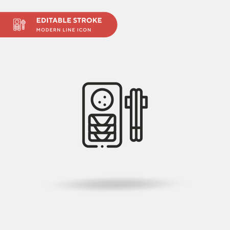 Egg Rolls Simple vector icon. Illustration symbol design template for web mobile UI element. Perfect color modern pictogram on editable stroke. Egg Rolls icons for your business project