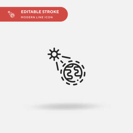 Ozone Simple vector icon. Illustration symbol design template for web mobile UI element. Perfect color modern pictogram on editable stroke. Ozone icons for your business project 矢量图像
