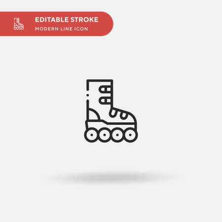 Rollerskate Simple vector icon. Illustration symbol design template for web mobile UI element. Perfect color modern pictogram on editable stroke. Rollerskate icons for your business project
