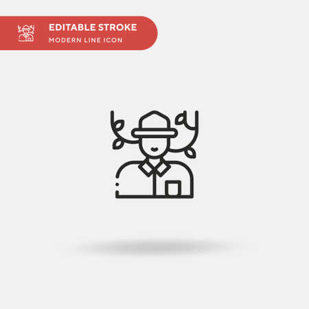 Researcher Simple vector icon. Illustration symbol design template for web mobile UI element. Perfect color modern pictogram on editable stroke. Researcher icons for your business project Ilustrace