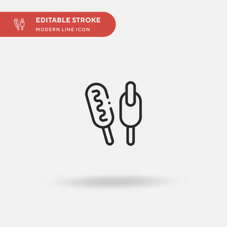 Corndog Simple vector icon. Illustration symbol design template for web mobile UI element. Perfect color modern pictogram on editable stroke. Corndog icons for your business project