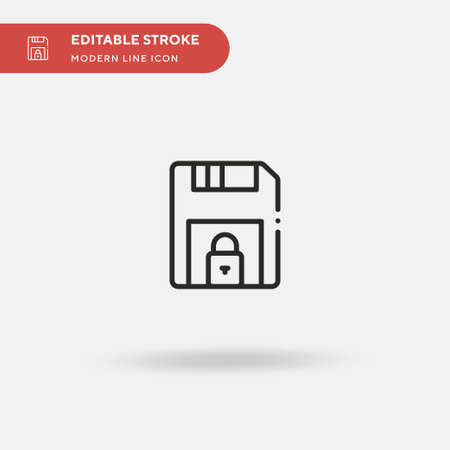 Floppy Disk Simple vector icon. Illustration symbol design template for web mobile UI element. Perfect color modern pictogram on editable stroke. Floppy Disk icons for your business project