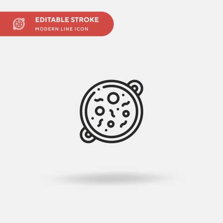 Tikka Masala Simple vector icon. Illustration symbol design template for web mobile UI element. Perfect color modern pictogram on editable stroke. Tikka Masala icons for your business project