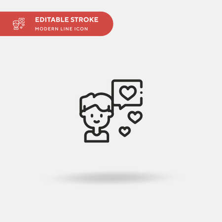 Boy Simple vector icon. Illustration symbol design template for web mobile UI element. Perfect color modern pictogram on editable stroke. Boy icons for your business project