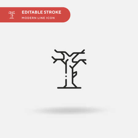 Dead Tree Simple vector icon. Illustration symbol design template for web mobile UI element. Perfect color modern pictogram on editable stroke. Dead Tree icons for your business project