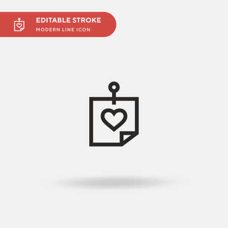 Post It Simple vector icon. Illustration symbol design template for web mobile UI element. Perfect color modern pictogram on editable stroke. Post It icons for your business project Illustration
