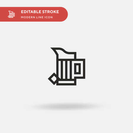 Pitcher Simple vector icon. Illustration symbol design template for web mobile UI element. Perfect color modern pictogram on editable stroke. Pitcher icons for your business project Иллюстрация